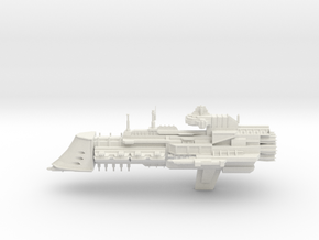 Gothic Class Cruiser in White Natural Versatile Plastic