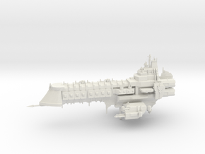 Capital Ship - Concept 2  in White Natural Versatile Plastic