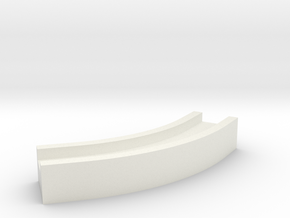 Aqueduct Channel Bend 45 degrees in White Natural Versatile Plastic