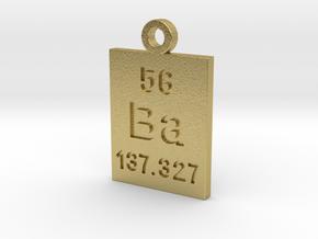 Ba Periodic Pendant in Natural Brass