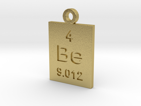 Be Periodic Pendant in Natural Brass