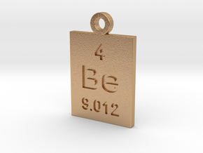 Be Periodic Pendant in Natural Bronze
