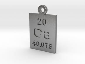 Ca Periodic Pendant in Natural Silver