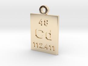 Cd Periodic Pendant in 14K Yellow Gold