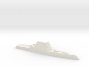 USS Zumwalt, 1/1250 in White Natural Versatile Plastic