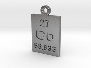 Co Periodic Pendant in Natural Silver