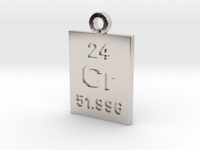 Cr Periodic Pendant in Rhodium Plated Brass