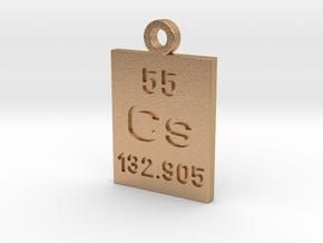Cs Periodic Pendant in Natural Bronze