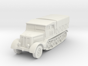 Sdkfz 9 FAMO (covered) 1/100 in White Natural Versatile Plastic
