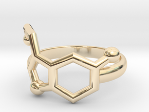 Serotonin Molecule Ring Minimal in 14K Yellow Gold: 3.5 / 45.25