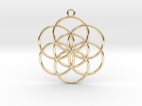 Seed of Life in 14k Gold Plated Brass