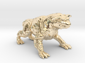 Ghostbusters 1/60 Terror Dog zuul gozer miniature in 14K Yellow Gold