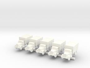 1/285 German Opel Blitz x5 in White Processed Versatile Plastic