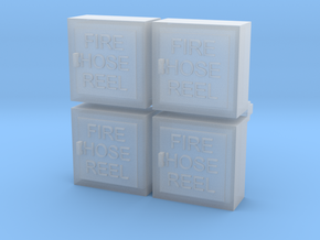 Fire Hose Cabinet 4 Pk 1-48 Scale in Smooth Fine Detail Plastic