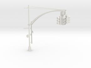 Traffic Light - New York City O scale #1 in White Natural Versatile Plastic