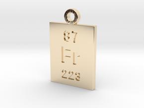 Fr Periodic Pendant in 14K Yellow Gold