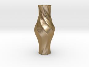Vase-17 in Polished Gold Steel