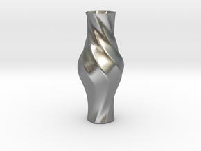 Vase-17 in Natural Silver