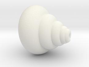 Conch | Golden ratio in White Natural Versatile Plastic: Medium