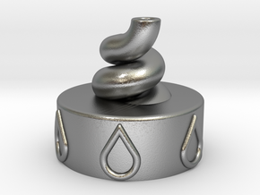 Bottle Cap VORTEX | To create Living Water in Natural Silver