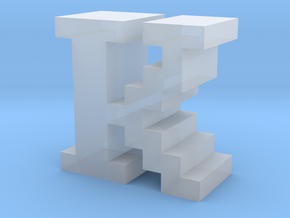 """K"" inch size NES style pixel art font block in Smooth Fine Detail Plastic"