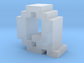 """""""Q"""" inch size NES style pixel art font block in Smooth Fine Detail Plastic"""
