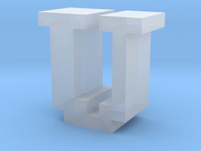 """U"" inch size NES style pixel art font block in Smooth Fine Detail Plastic"