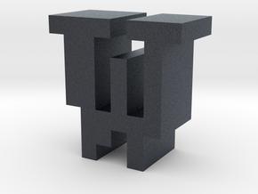 """""""W"""" inch size NES style pixel art font block in Black PA12"""