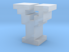 """""""Y"""" inch size NES style pixel art font block in Smooth Fine Detail Plastic"""