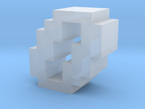 """""""0"""" inch size NES style pixel art font block in Smooth Fine Detail Plastic"""