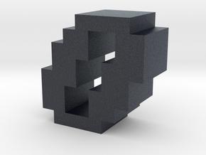 """""""0"""" inch size NES style pixel art font block in Black PA12"""