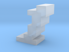 """""""1"""" inch size NES style pixel art font block in Smooth Fine Detail Plastic"""