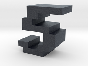 """5"" inch size NES style pixel art font block in Black Professional Plastic"
