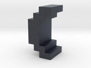 """()"" inch size NES style pixel art font block in Black Professional Plastic"