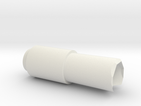 Bull barrel in White Natural Versatile Plastic
