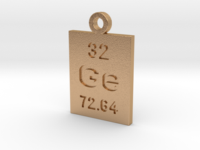 Ge Periodic Pendant in Natural Bronze