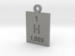 H Periodic Pendant in Gray PA12