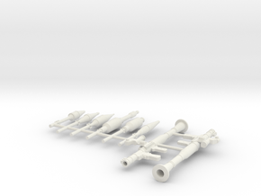 1:24 scale RPG 7 version 2  [see also 1:72 scale] in White Natural Versatile Plastic: 1:72
