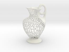 Wire Oenochoe in White Natural Versatile Plastic