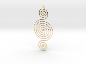 Triple Spiral Pendant in 14K Yellow Gold