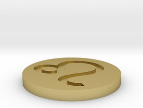 Leo Coin in Natural Brass