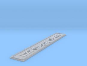 Nameplate USS Gregory DD-802 in Smoothest Fine Detail Plastic