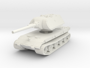E 100 Maus 128mm 1/87 in White Natural Versatile Plastic