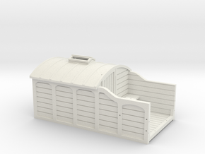 00 Scale LNWR Brake Van (Early Version) in White Natural Versatile Plastic