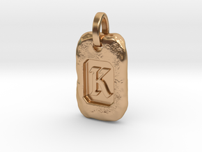 Old Gold Nugget Pendant K in Polished Bronze
