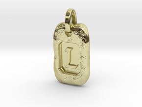 Old Gold Nugget Pendant L in 18k Gold Plated Brass