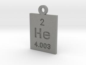 He Periodic Pendant in Gray PA12