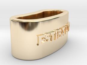 ESTIBALITZ 3D Napkin Ring with daisy in 14K Yellow Gold