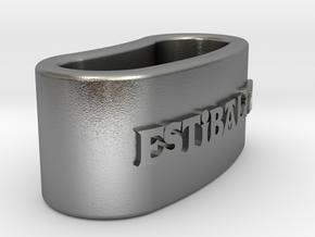 ESTIBALITZ 3D Napkin Ring with daisy in Natural Silver