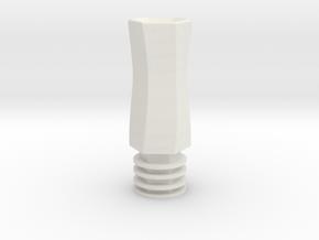 510  Tip Hexagonal in White Natural Versatile Plastic